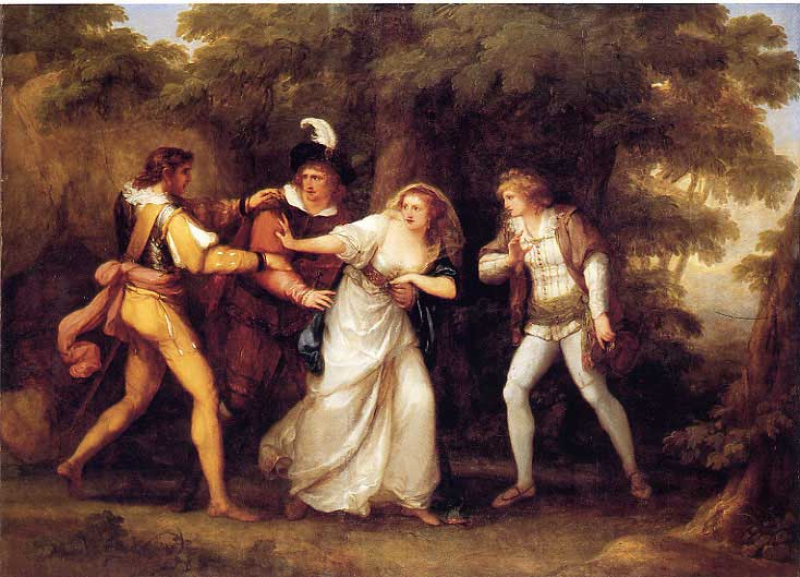 Valentine Rescues Silvia in 'The Two Gentlemen of Verona', 1789 - Angelika Kauffmann