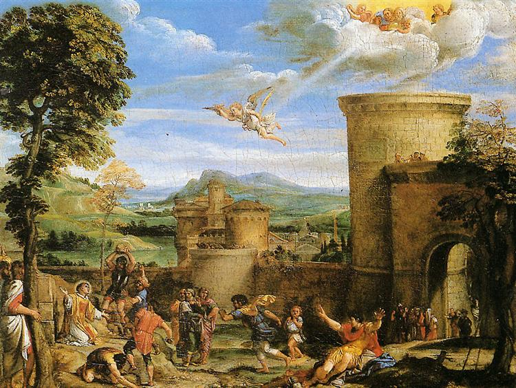 The Martyrdom of St Stephen, 1603 - Annibale Carracci