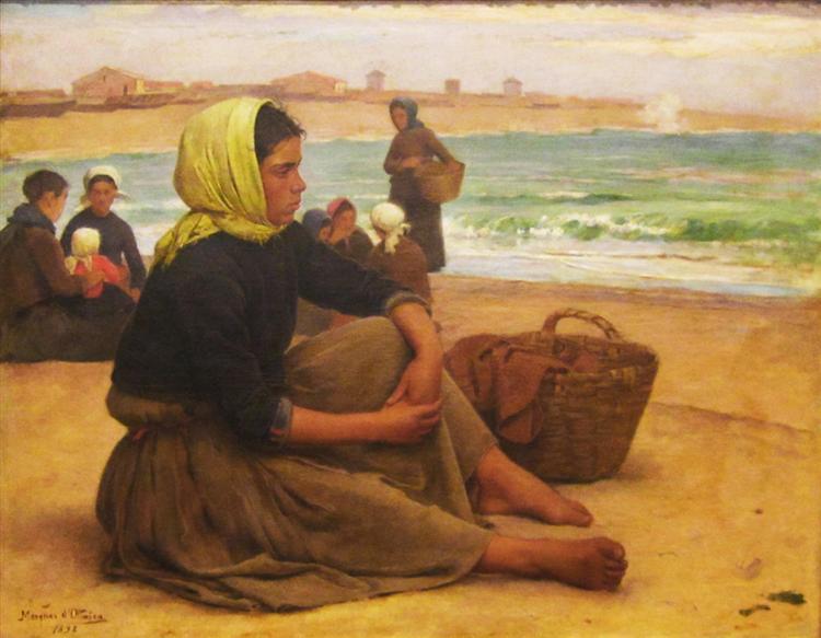 A Apanha do sargaço, 1884 - António Carvalho de Silva Porto