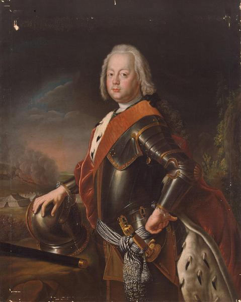 Portrait of Christian August, Prince of Anhalt Zerbst, father of Catherine II of Russia., 1725 - Antoine Pesne