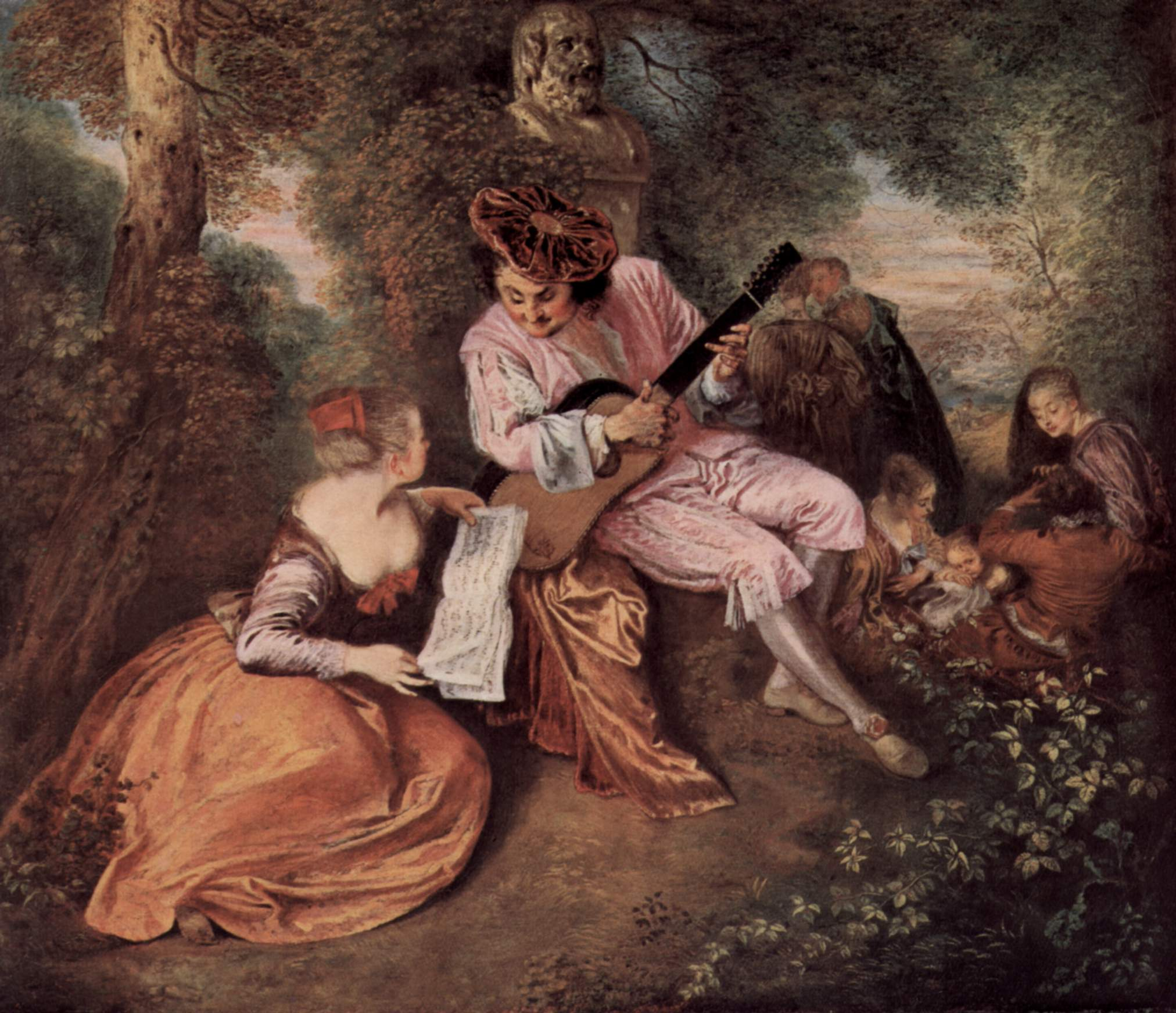 Jean-Antoine Watteau, The Scale of Love, Ekphrasis