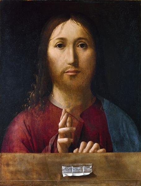 Christ Blessing, 1465 - Antonello da Messina