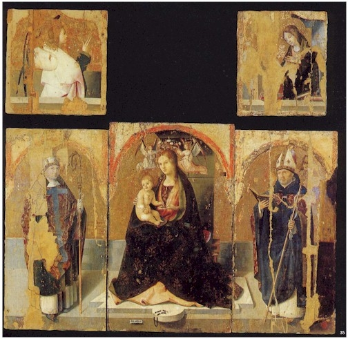 Polyptych with St. Gregory - Antonello da Messina