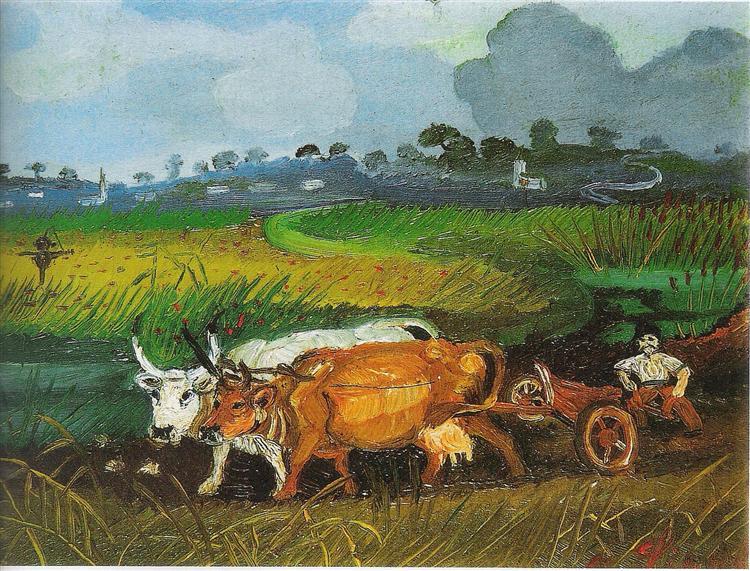Plowing, 1948 - Antonio Ligabue