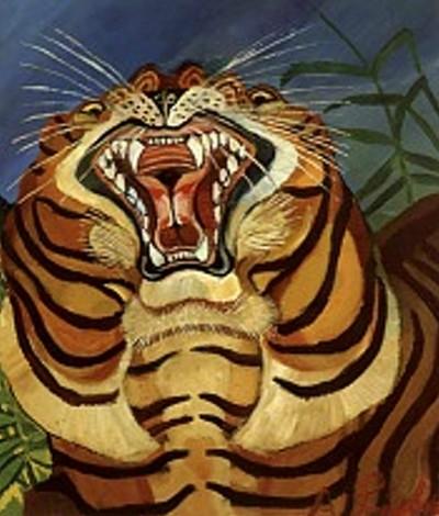 Tiger's Head, 1940 - Antonio Ligabue