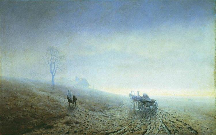 Autumn impassability of roads, 1872 - Arkhip Kuindzhi