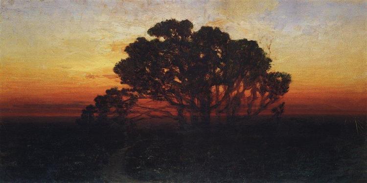 Вечер, c.1890 - Архип Куинджи
