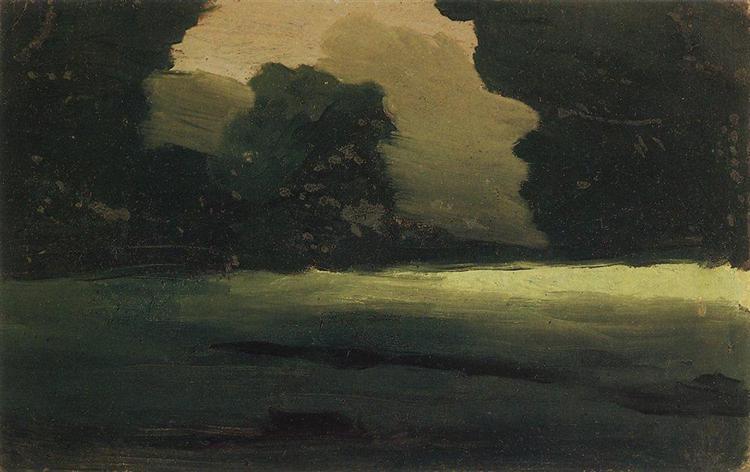 Forest Glade. Fog, c.1908 - Arkhip Kuindzhi