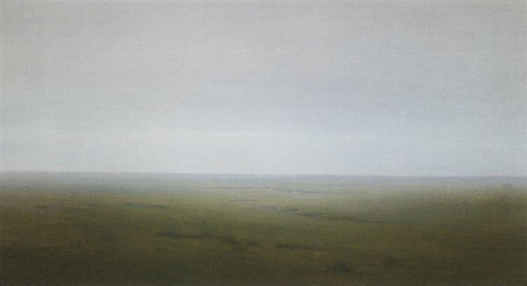 Landscape. Steppe, c.1895 - Arkhip Kuindzhi