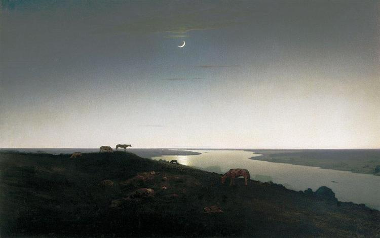 Night, c.1908 - Arkhip Kuindzhi