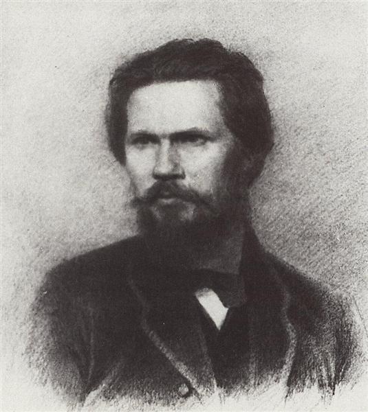 Portrait of Ivan Kramskoi - Arkhip Kuindzhi