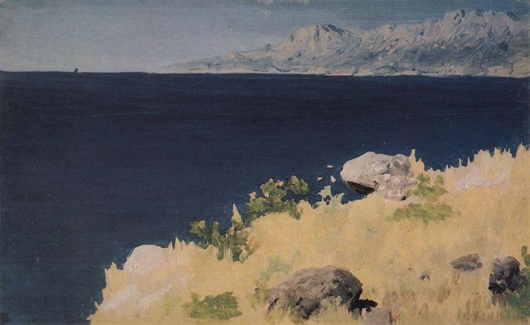 Sea coast. Crimea, c.1890 - Arkhip Kuindzhi