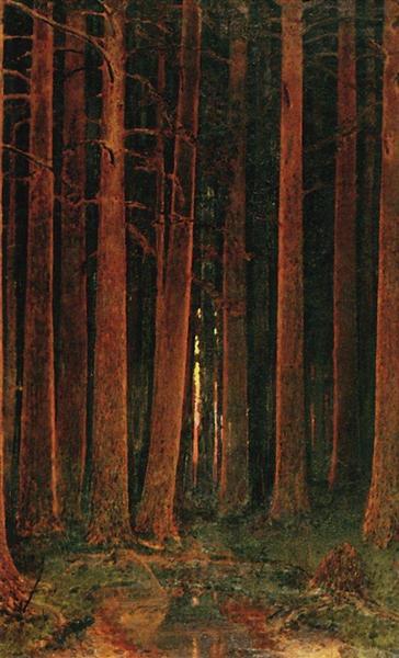 Sunset in the forest, 1878 - Arkhip Kuindzhi