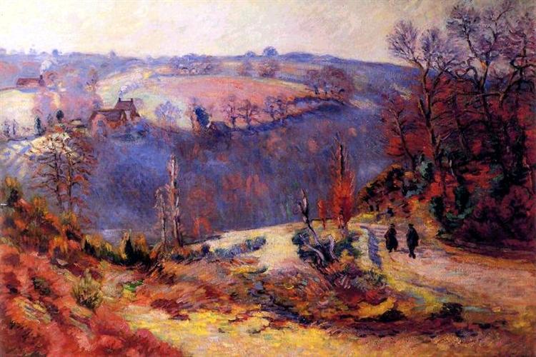 Pont-Charraud: gelée blanche, 1911 - Armand Guillaumin