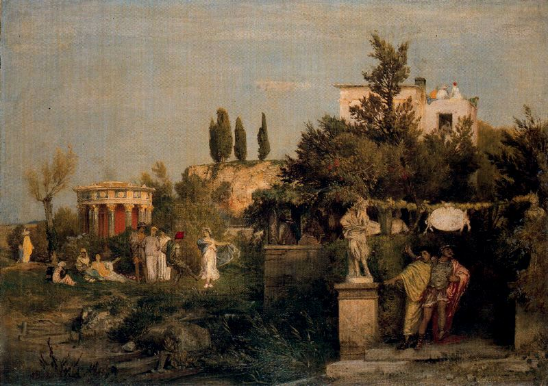 Tavern in ancient Rome, 1867 - Arnold Böcklin - WikiArt.org