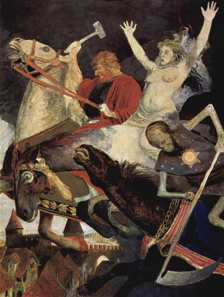 War, 1896 - Arnold Böcklin