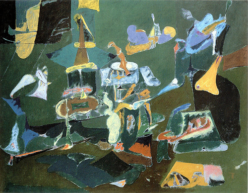 Dark Green Painting, 1948 - Arshile Gorky