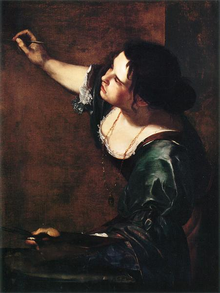 Self-portrait as the Allegory of Painting - Artemisia Gentileschi
