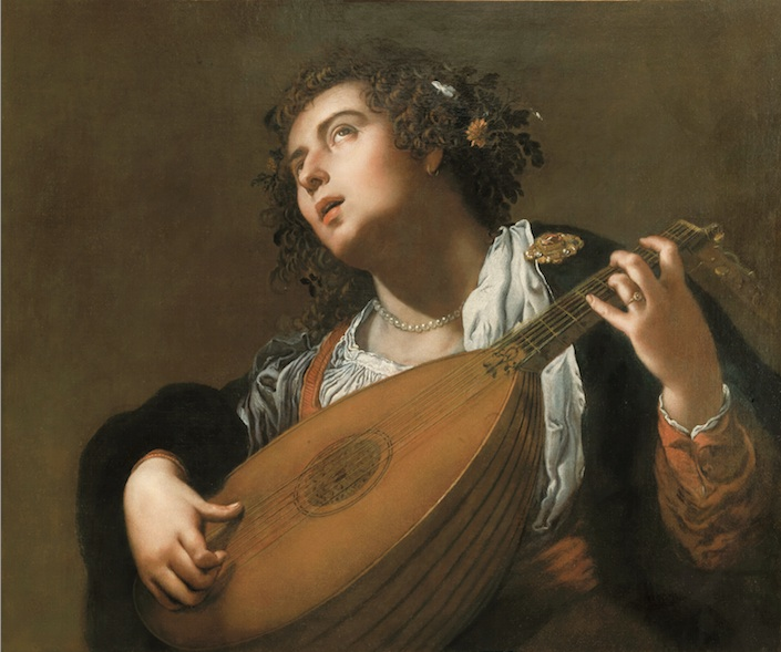 Woman Playing a Lute, 1628 - 1629 - Artemisia Gentileschi