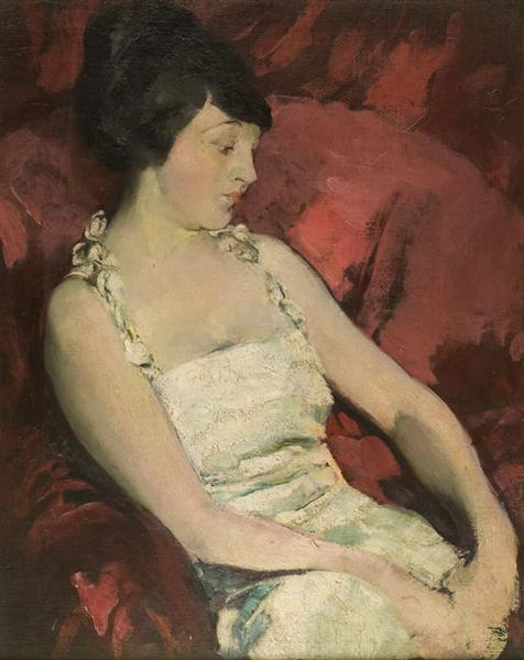 Woman in White, 1920 - Arthur Beecher Carles