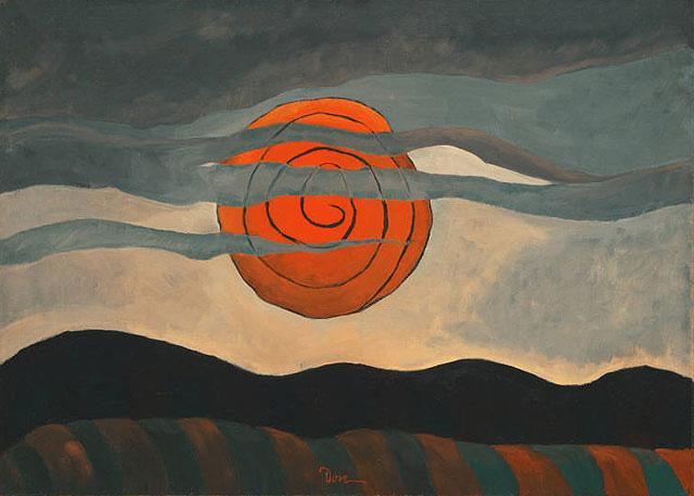 Resultado de imagen de arthur dove red sun