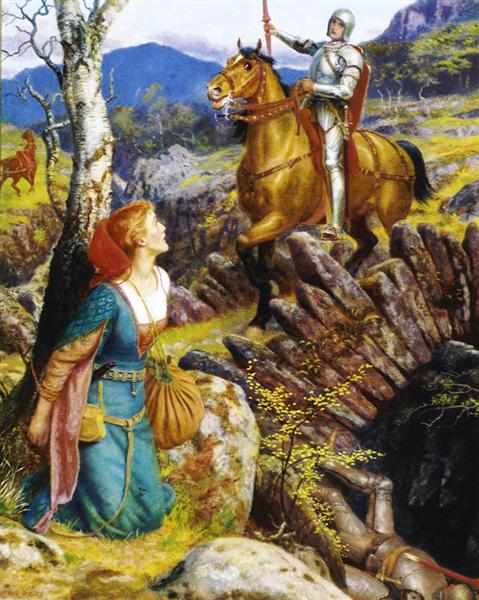 The Overthrowing of the Rusty Knight, c.1894 - c.1908 - Arthur Hughes