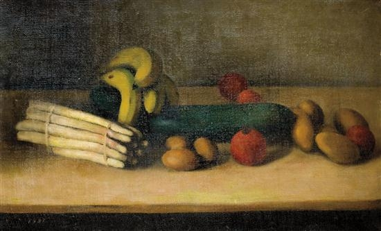 Still life with cucumber, 1937 - Arthur Segal