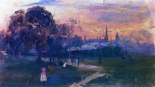 Evening Game, 1889 - Arthur Streeton