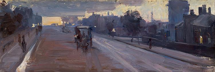 Hoddle Street, 10 p.m. - Arthur Streeton