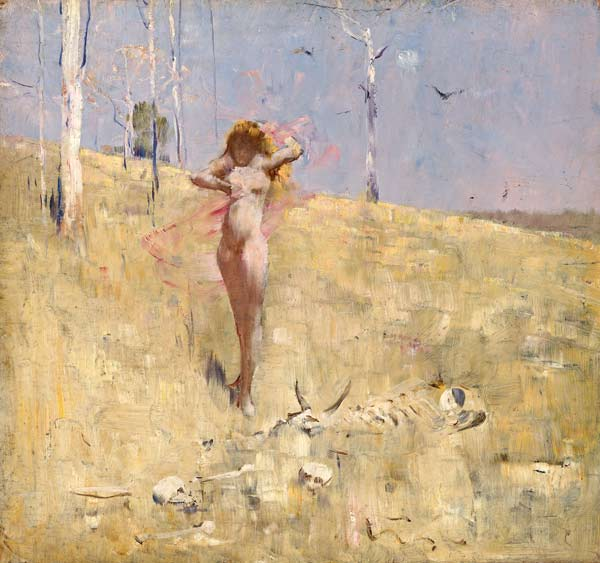 Spirit of the drought - Arthur Streeton