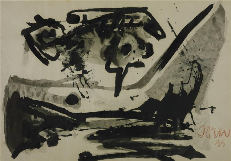 The Black Flight, 1955 - Asger Jorn