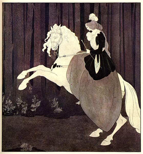 Frontispiece to Chopin's Third Ballade, 1895 - 奥伯利·比亚兹莱