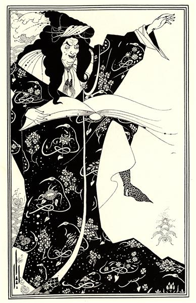 Design for a Frontispiece to 'Virgilius the Sorcerer' - Aubrey Beardsley