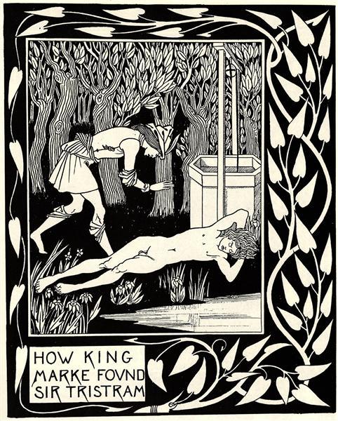 How King Marke Found Sir Tristram, c.1892 - c.1894 - Aubrey Beardsley