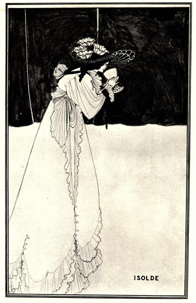 Isolde, 1895 - Aubrey Beardsley