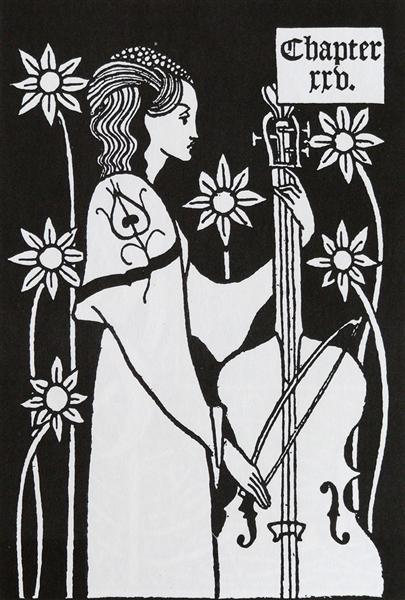 Lady with Cello - Aubrey Beardsley