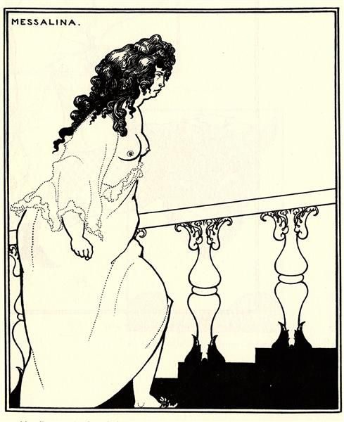 Messalina returning home, 1896 - Aubrey Beardsley