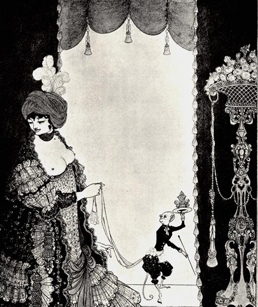 The Lady with the Monkey, 1898 - Aubrey Beardsley