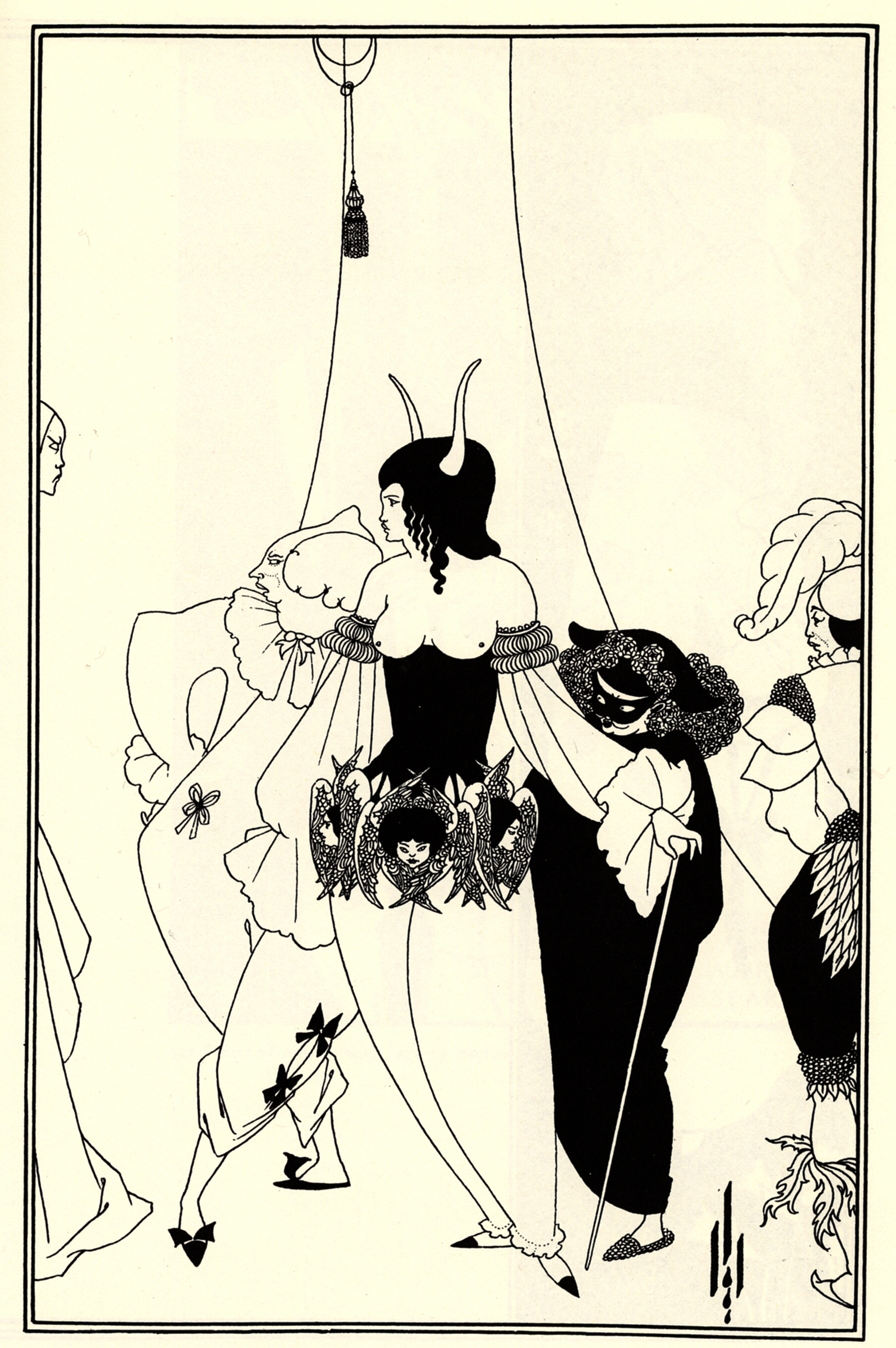 The Mask of the Red Death, 1894 - 1895 - Aubrey Beardsley ...