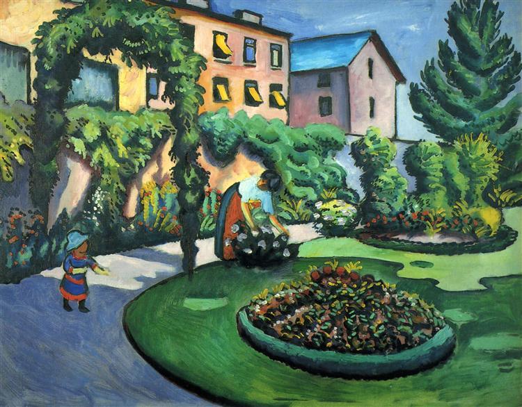 Gartenbild, 1911 - August Macke