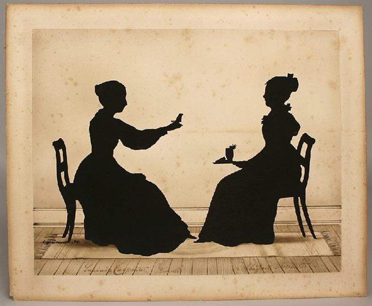 Lucinda Carpenter, Tweeter and Abigail Forrester, 1841 - Auguste Edouart