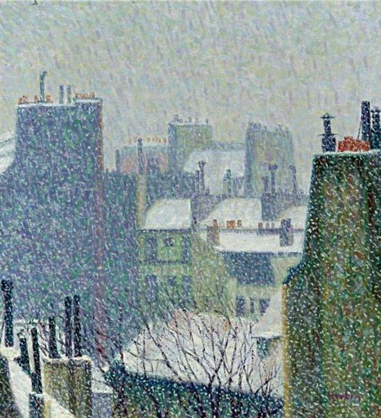 The roofs of paris in the snow 1902 auguste herbin for Auguste herbin