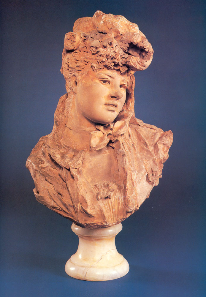 Bust of a Smiling Woman, 1875