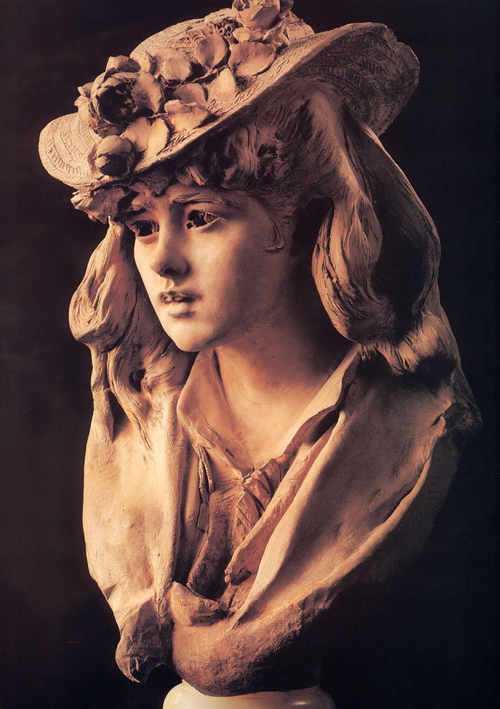 Young Girl with Roses on Her Hat, 1865-1870