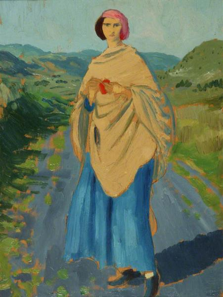 Dorelia in a Landscape, 1910 - Augustus John