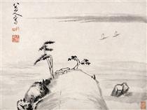 Landscape (Album Leaf) - Bada Shanren