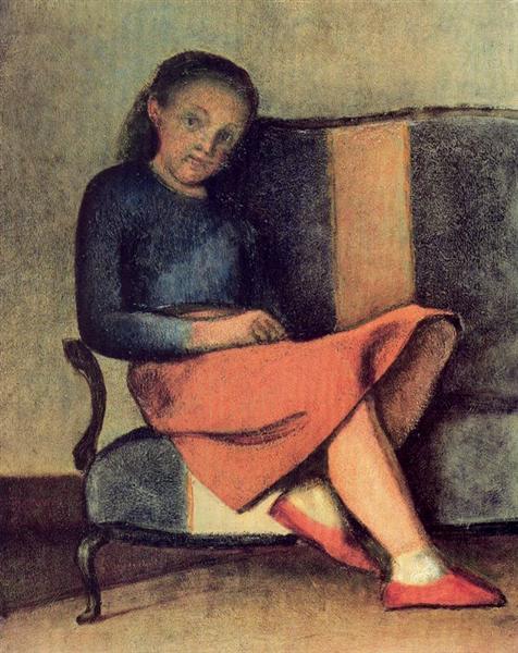 Colette sitting, 1954 - Balthus