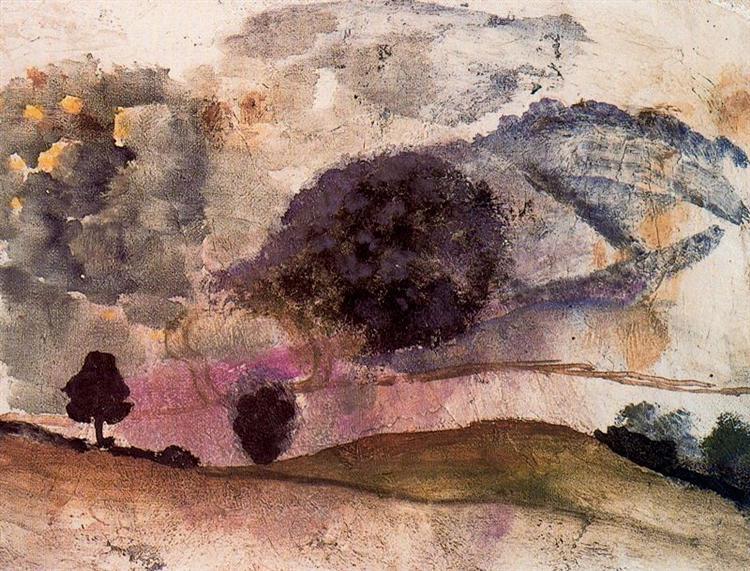 Landscape in Morvan, 1955 - Balthus