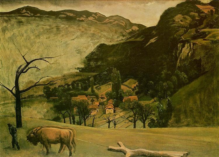 Landscape with Oxen, 1942 - Balthus