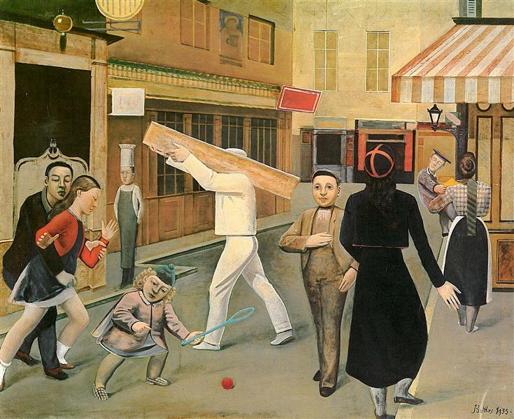 The street, 1933 - Balthus